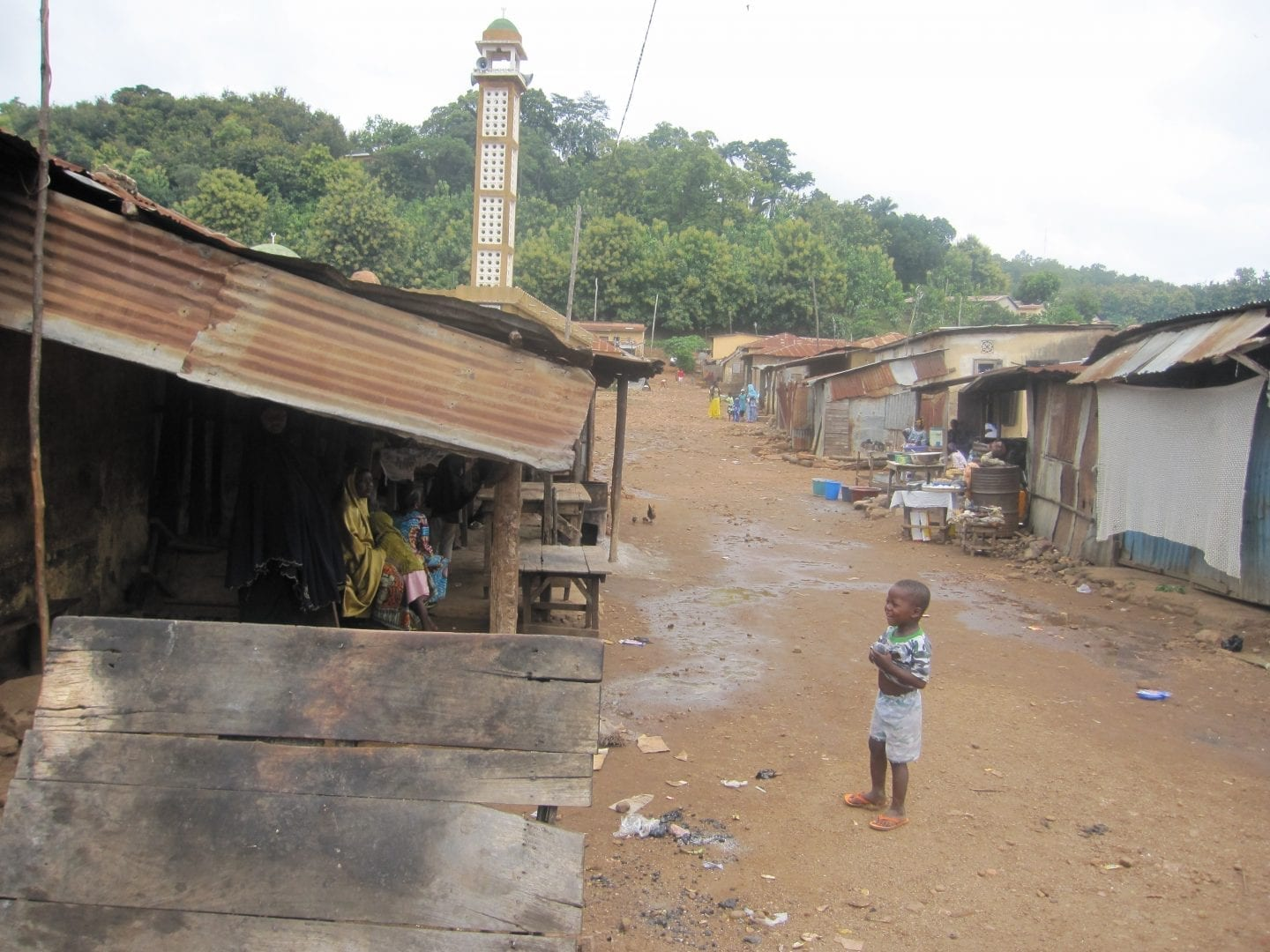 Street-in-small-village-in-Togo